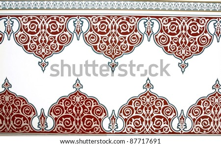 Ottoman Style Painting Pattern - stock photo