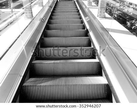 Out door escalator - stock photo