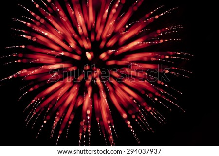 Out of Focus/Artistic Red Firework - stock photo
