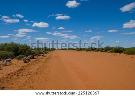 Outback Road Australia - stock photo