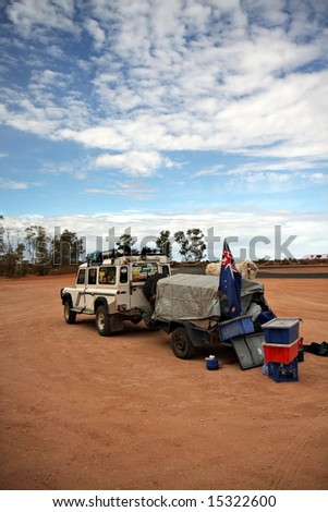 Outback safari - stock photo
