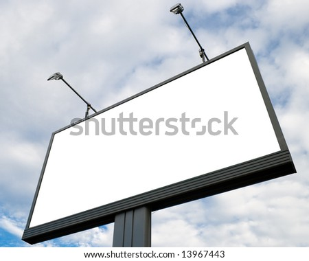 Outdoor advertising billboard with blank space for text - stock photo