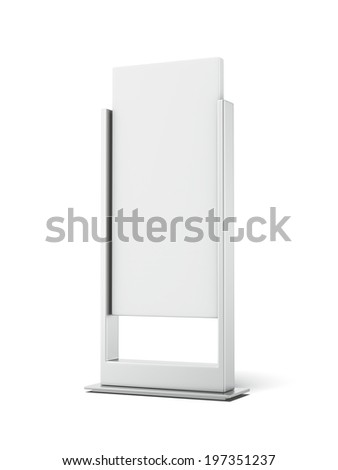 Outdoor Advertising stand - stock photo