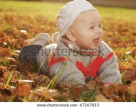 Outdoor baby - stock photo