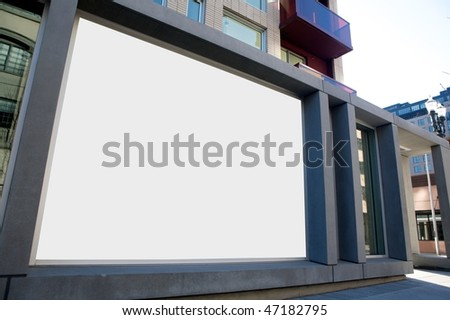 Outdoor blank wall sign - stock photo