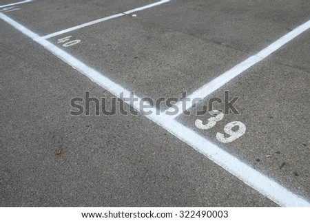 Outdoor car parking lots with empty space - stock photo