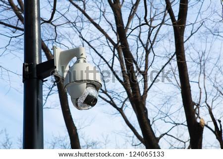 Outdoor CCTV Security camera - stock photo