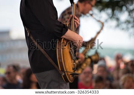 outdoor concert - stock photo