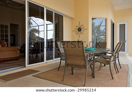 Outdoor Dining Area - stock photo