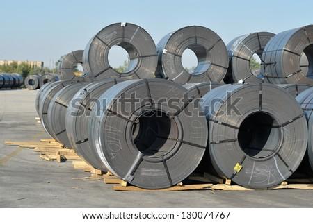 outdoor industrial warehouse - stock photo