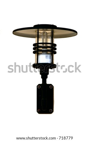 Outdoor light fixture isolated on a white background - stock photo