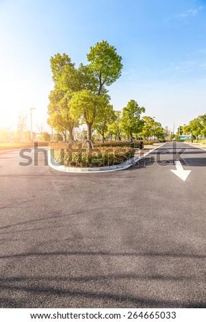 Outdoor parking road - stock photo