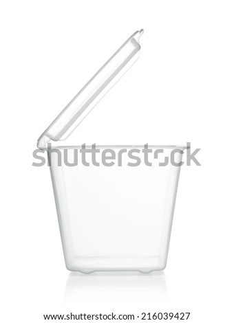 outdoor plastic empty container for food - stock photo