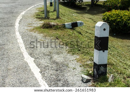 Outdoor pole in roadside on thailand - stock photo