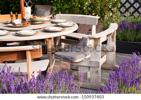Outdoor restaurant  - stock photo