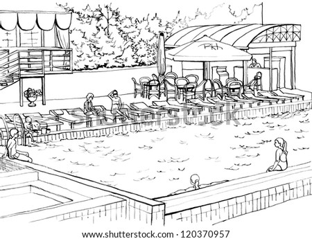 Anton kokuiev 39 s portfolio on shutterstock for Swimming pool drawing
