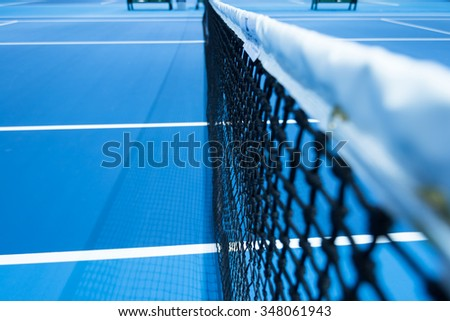 Outdoor Tennis Net Shallow Depth of View - stock photo
