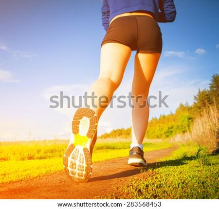 outdoor training - stock photo