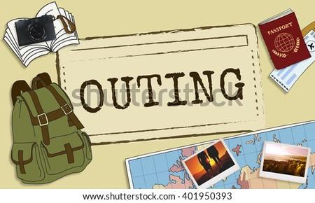 Outing Travel Trip Journey Destination Concept - stock photo