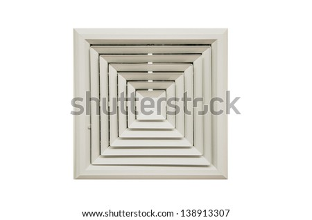 outlet air duct - stock photo
