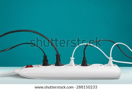 Outlet, Electric Plug, Power Cable. - stock photo