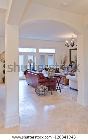 Interior arch stock photos images pictures shutterstock for Arch design for living room