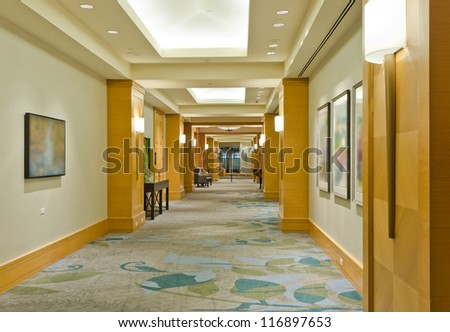 Outlook of the lobby of the luxury five stars hotel. Vancouver, Canada. - stock photo
