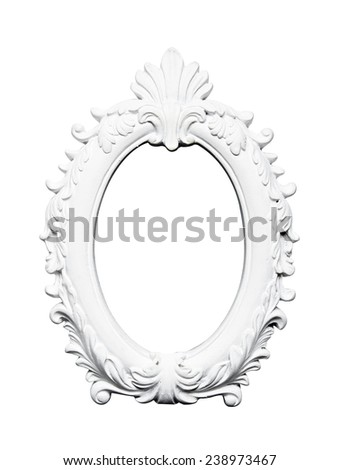 Oval vintage art frame - stock photo