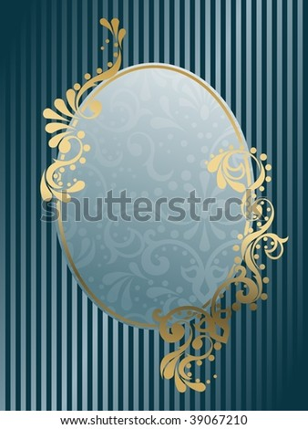 Oval vintage Victorian frame(JPG); a vector version is also available - stock photo