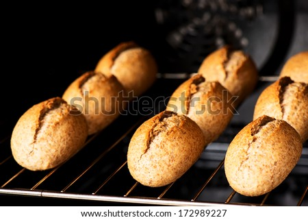 Oven baked bread - stock photo