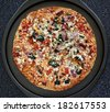 Oven Baked Pizza With Vegetarian Toppings Hot From The Oven - stock photo