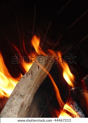 oven fire - stock photo