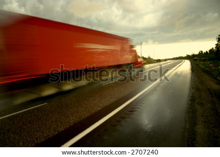 over night freight - stock photo