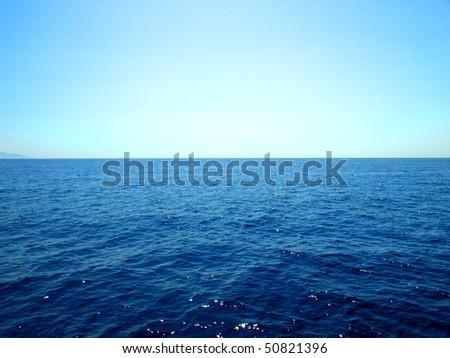 Over sea - stock photo