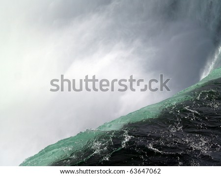 Over the brink ... Niagara Falls, Canada - stock photo