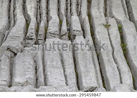 Over thousands of years of water, wind and weather created these interesting shapes  - stock photo