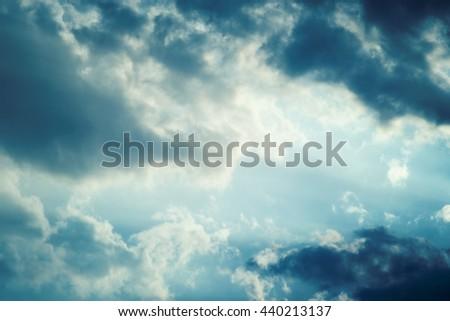 Overcast cloudy sky - stock photo