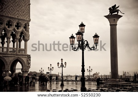 Overcast Day in Venice, Italy - stock photo