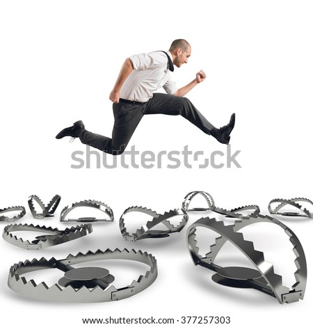 Overcome traps - stock photo
