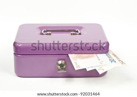 overflowing cash box - stock photo