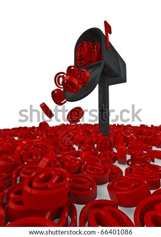 Overflowing mailbox - stock photo