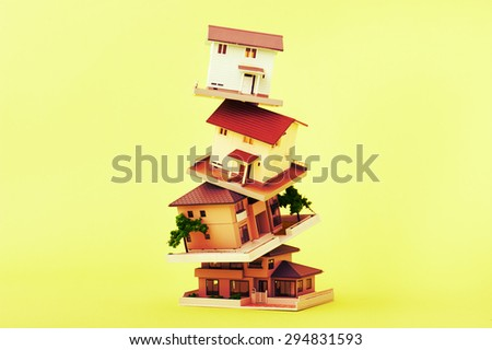 Overlapping home - stock photo