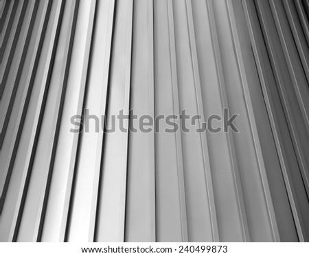 Overlapping Sculpture like Tin, Aluminum Shingles - stock photo