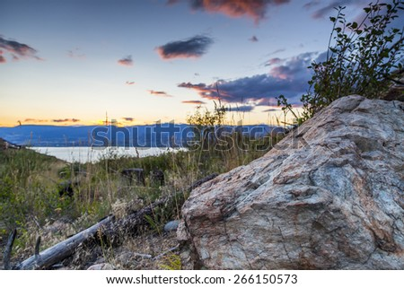 Overlooking Okanagan Valley - stock photo
