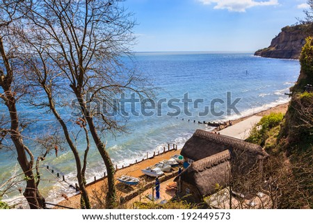 Overlooking Old Shanklin on the Isle of Wight England UK Europe - stock photo