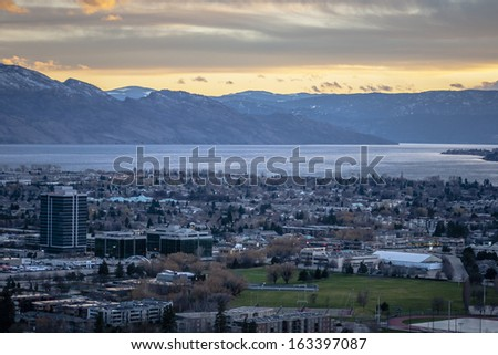 Overlooking the City of Kelowna  - stock photo