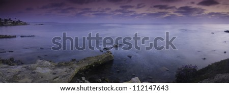 Overview of Bird Rock - stock photo