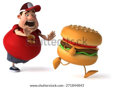 Overweight guy - stock photo