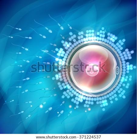 Ovum fertilization beautiful abstract background  - stock photo