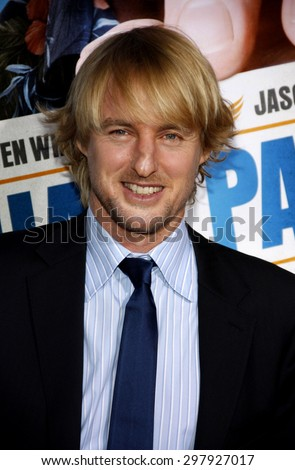 Owen Wilson at the Los Angeles premiere of 'Hall Pass' held at the ArcLight Cinemas in Hollywood on February 23, 2011.  - stock photo